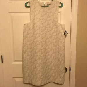 NWT halogen women's white and tan dress! Size L